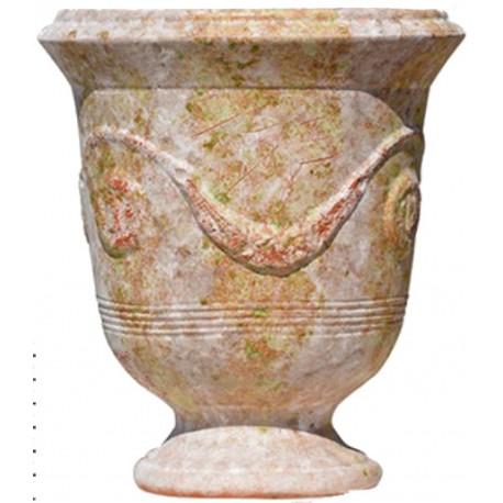 Vase d'Anduze terre cuite D.66xH.80cm Vieilli patiné Terre Figuière