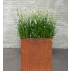 Bac à plantes en métal rouillé 60x22xH.72cm Cozy - MegaCollections